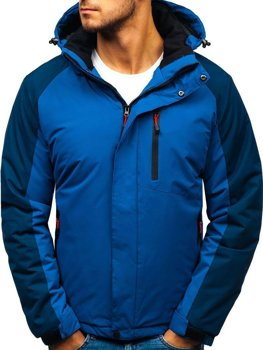 Мужская зимняя куртка синяя Bolf HZ8102