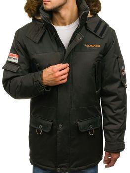 Мужская зимняя куртка хаки Bolf 40014