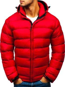 Мужская зимняя спортивная куртка красная Bolf AB63