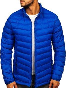 Мужская зимняя спортивная куртка синяя Bolf SM70