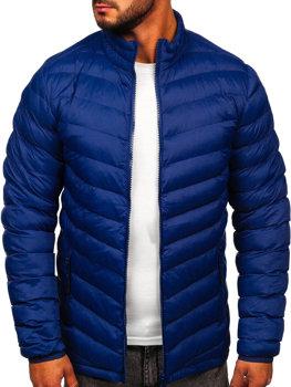 Мужская зимняя спортивная куртка темно-синяя Bolf SM70