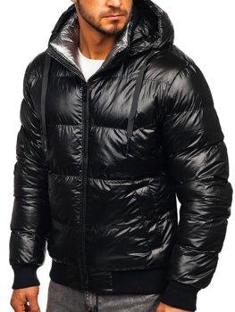 Мужская зимняя стеганая черная куртка Bolf 92556