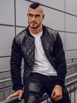 Мужская куртка-бомбер черный Bolf 2569-2