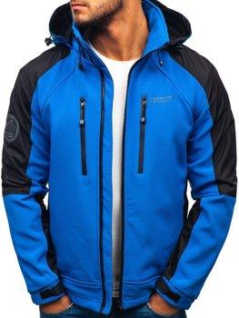 Мужская куртка софтшелл синяя Bolf P06