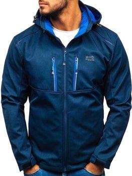 Мужская куртка софтшелл темно-синяя Bolf AB008
