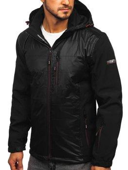 Мужская куртка софтшелл черно-оранжевая Bolf 5680