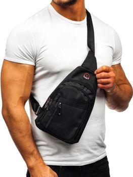 Мужская сумка почтальонка черная Bolf T47