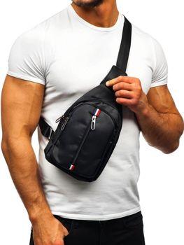Мужская сумка почтальонка черная Bolf T49