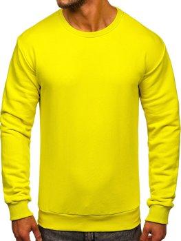 Мужская толстовка без капюшона светло-желтая Bolf 171715