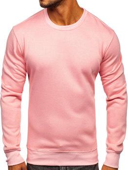 Мужская толстовка без капюшона светло-розовая Bolf 2001