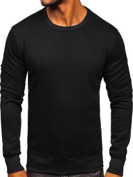 Мужская толстовка без капюшона черная Bolf BO-01
