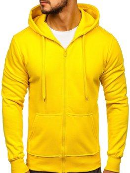 Мужская толстовка с капюшоном желтая Bolf 2008-A