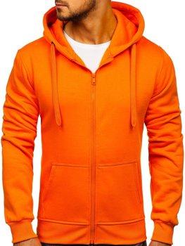 Мужская толстовка с капюшоном оранжевый Bolf 2008