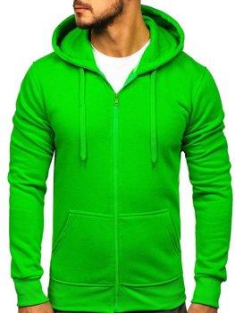 Мужская толстовка с капюшоном светло-зеленая Bolf 2008-A