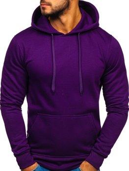 Мужская толстовка с капюшоном фиолетовая Bolf 2009