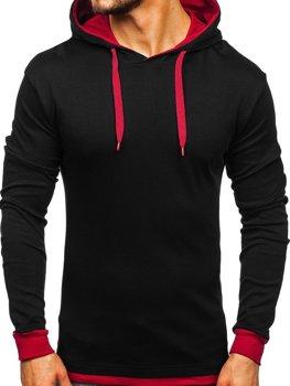 Мужская толстовка с капюшоном черная Bolf 145380