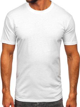 Мужская футболка без принта белая Bolf 14291
