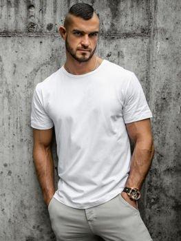 Мужская футболка без принта белая Bolf T1279