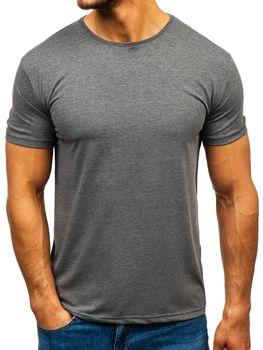 Мужская футболка без принта графитовая Bolf 9001-1