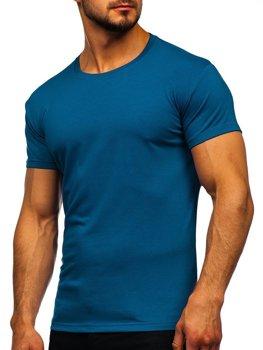 Мужская футболка без принта индиго Bolf 2005