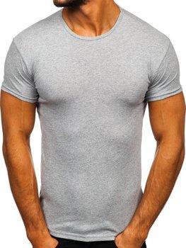 Мужская футболка без принта серая Bolf 0001