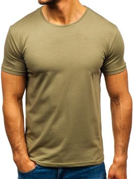 Мужская футболка без принта хаки Bolf 9001-1