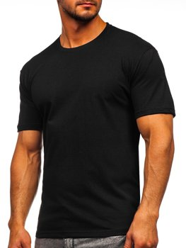 Мужская футболка без принта черная Bolf 14291