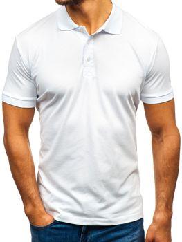 Мужская футболка поло белая Bolf 171221