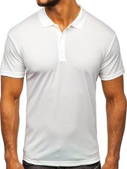 Мужская футболка поло белая Bolf HS2005