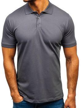 Мужская футболка поло графитовая Bolf 9025