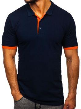 Мужская футболка поло темно-синяя Bolf 171222-1