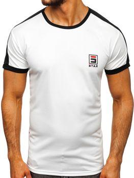 Мужская футболка с принтом белая Bolf SS10990