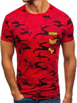 Мужская футболка с принтом красная Bolf SS331