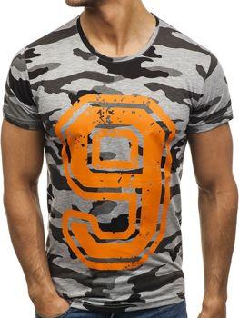 Мужская футболка с принтом мультиколор Bolf 2101B