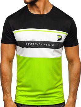 Мужская футболка с принтом черная Bolf SS10995