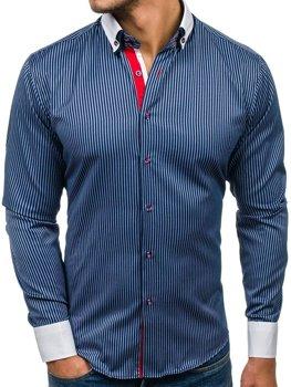 Мужская элегантная рубашка с длинным рукавом Bolf 2790