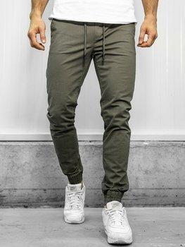 Мужские брюки джоггеры зеленые Bolf KA951