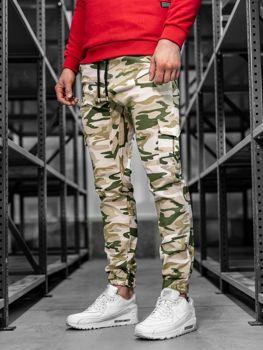 Мужские брюки джоггеры карго бежевые Bolf 0404