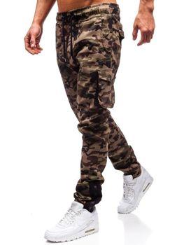 Мужские брюки джогеры карго камуфляж-зеленые Bolf 0705