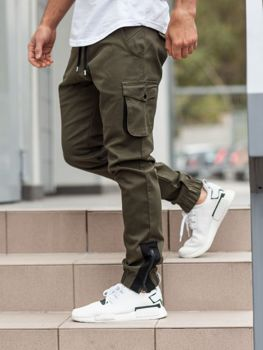 Мужские брюки джогеры карго хаки Bolf 0705