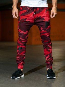 Мужские брюки камуфляж-красные Bolf 0829