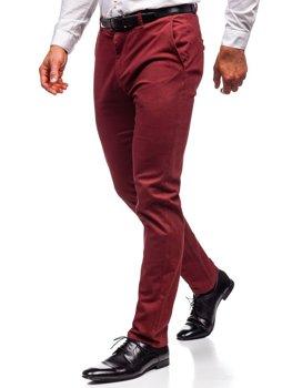 Мужские брюки чинос красные Bolf 1120