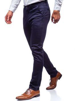 Мужские брюки чинос темно-синие Bolf KA969