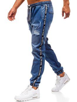 Мужские джинсовые брюки багги синие Bolf 2045