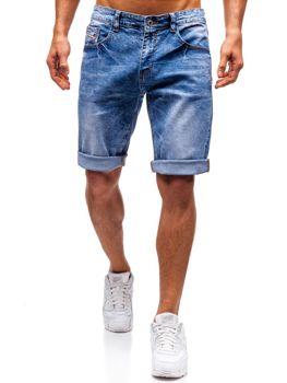Мужские джинсовые шорты синие Bolf 7806