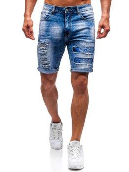 Мужские джинсовые шорты синие Bolf T577
