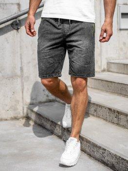 Мужские джинсовые шорты черные Bolf 5784