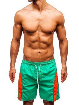 Мужские пляжные шорты светло-зеленые Bolf 336