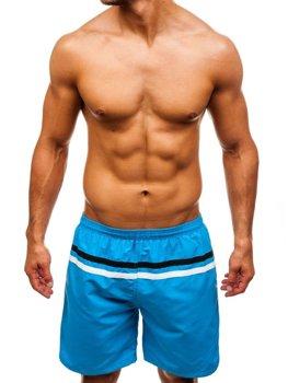 Мужские пляжные шорты светло-синие Bolf Y765