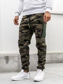 Мужские спортивные брюки багги камуфляж-мультиколор Bolf 3769G